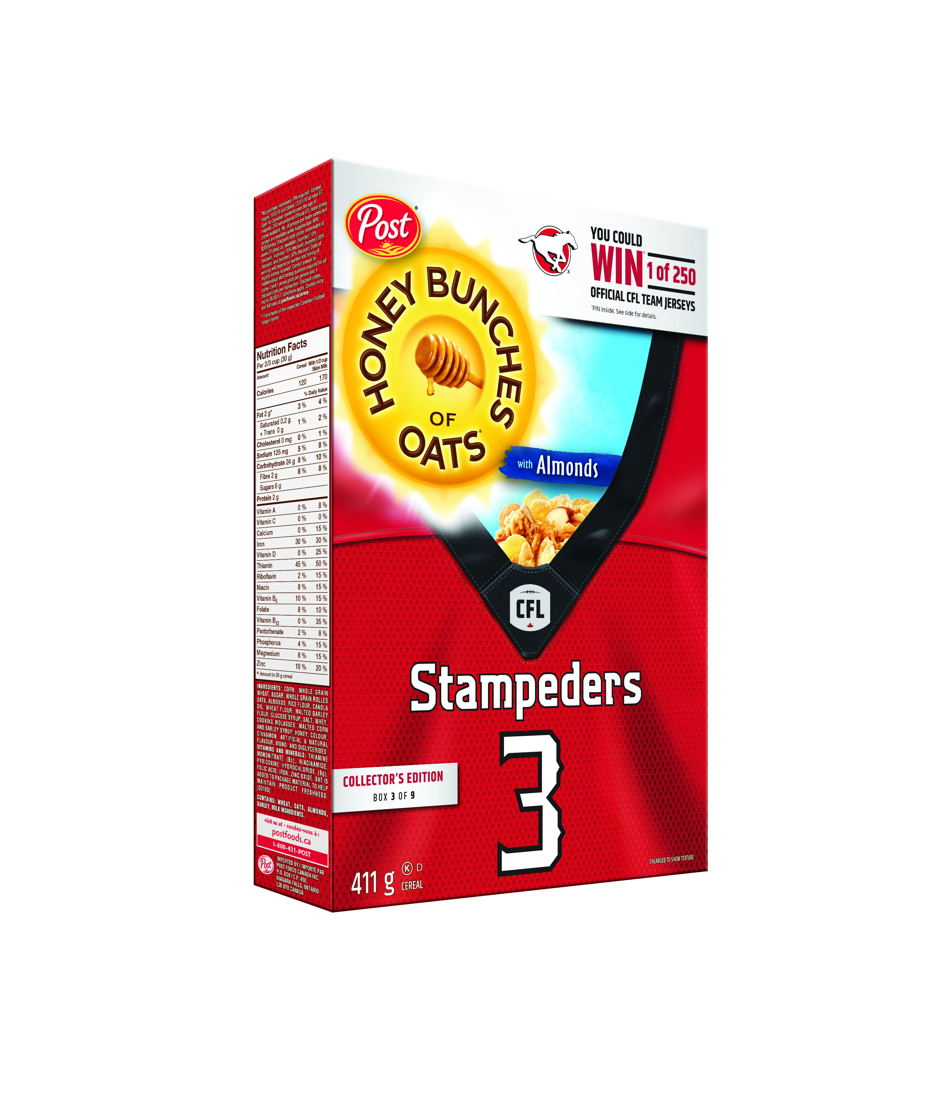 Honey Bunches of Oats with Almonds featuring the Calgary Stampeders