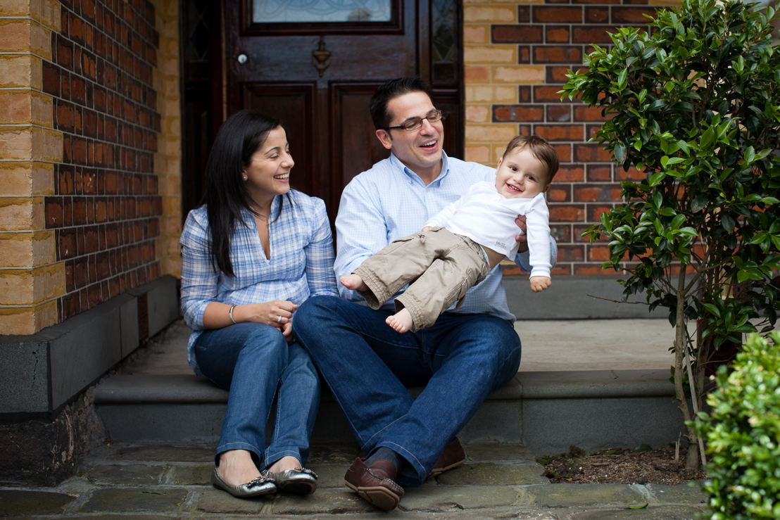 Massimo with his parents by Pebbles Photography
