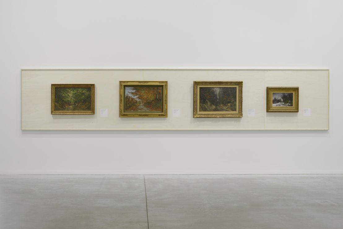 Vue de l'exposition PLEIN AIR avec les oeuvres de Joseph Theodore Coosemans (c) Isabelle Arthuis