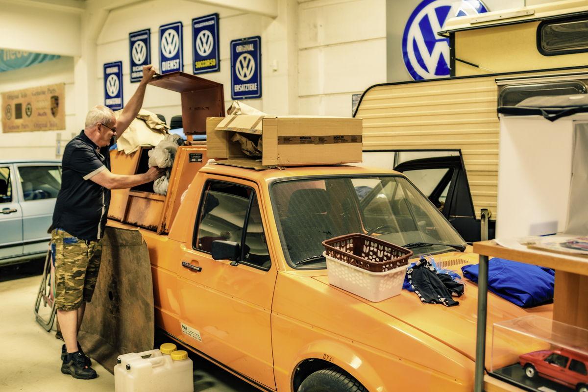 Alguien tiene que hacerlo: un caddy como camión de basura