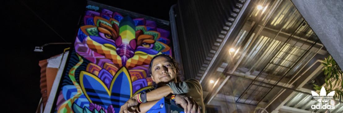 adidas Originals Flagship Store México devela su nuevo mural, en colaboración con el artista Farid Rueda