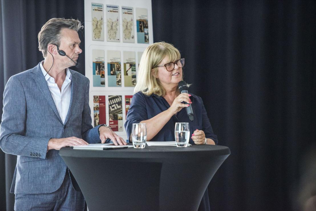 Gedeputeerde Martine Verhoeve en Lieven Van Gils