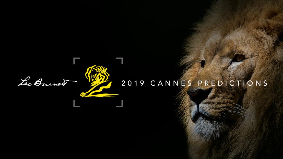 Творческа агенция LEO BURNETT обяви своята прогноза за международните награди CANNES LIONS 2019