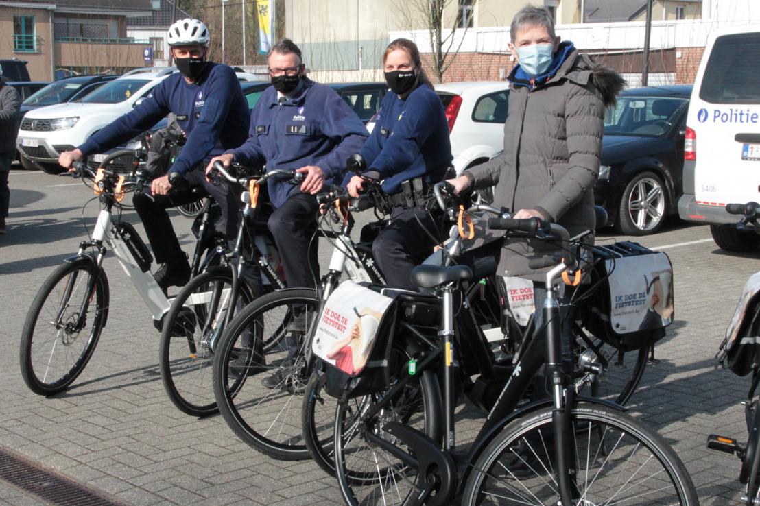Politiezone Dilbeek doet mee aan de Fietstest