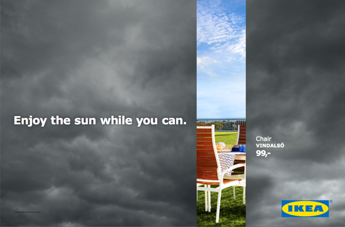 DDB plays with the weather for IKEA