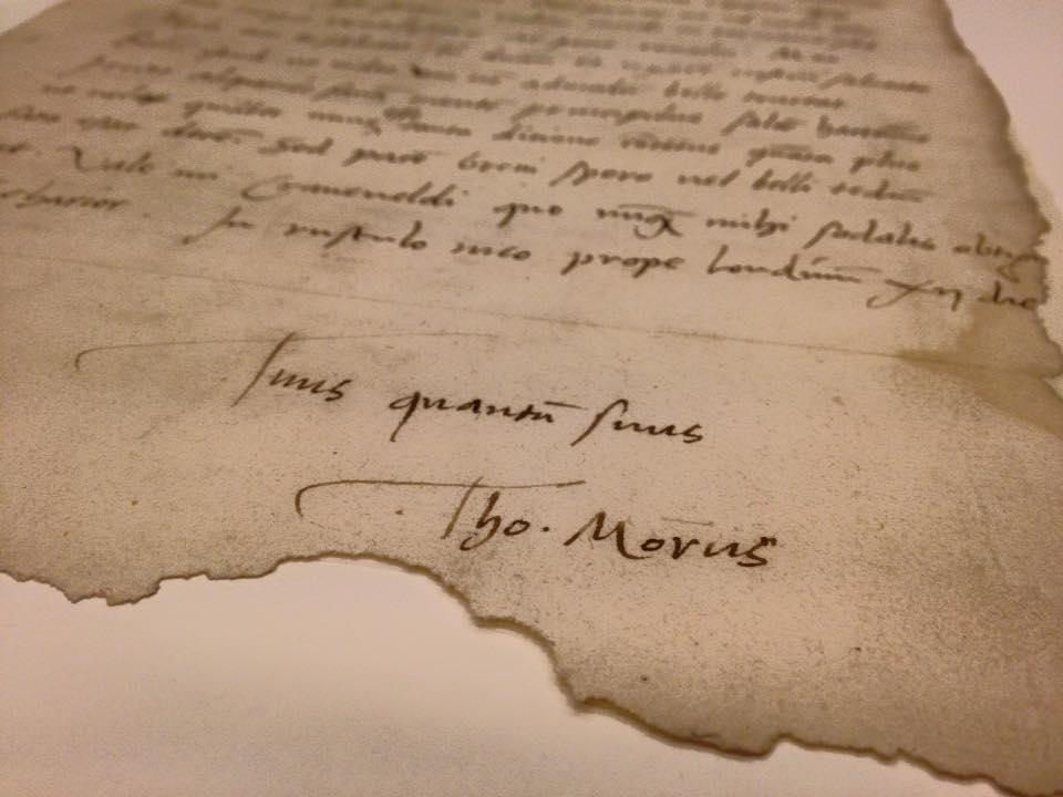 Utopia & More © Lettre de More à Cranevelt, 12 novembre 1521. Leuven, bibliothèque universitaire, KU Leuven.