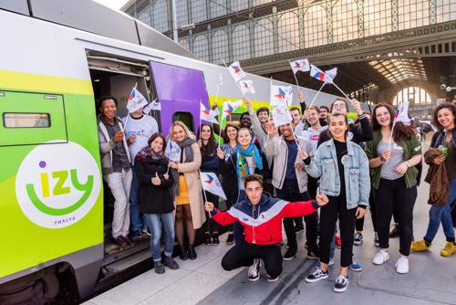 Thalys brengt 350 jongeren naar Brussel: een langverwachte interactieve ontmoeting, op initiatief van het Secours populaire français