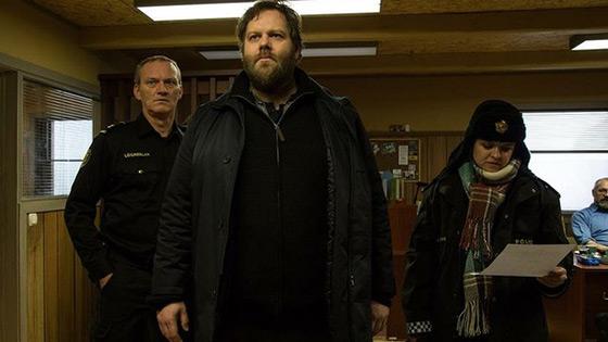Trapped:  Ásgeir (Ingvar Eggert Sigurðsson), Andri Olafsson (Ólafur Darri Ólafsson), Hinrika (Ilmur Kristjánsdóttir)  - (c) Lumière Publishing