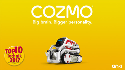 TOP 10 Technik wählt Cozmo zum angesagtesten Produkt 2017