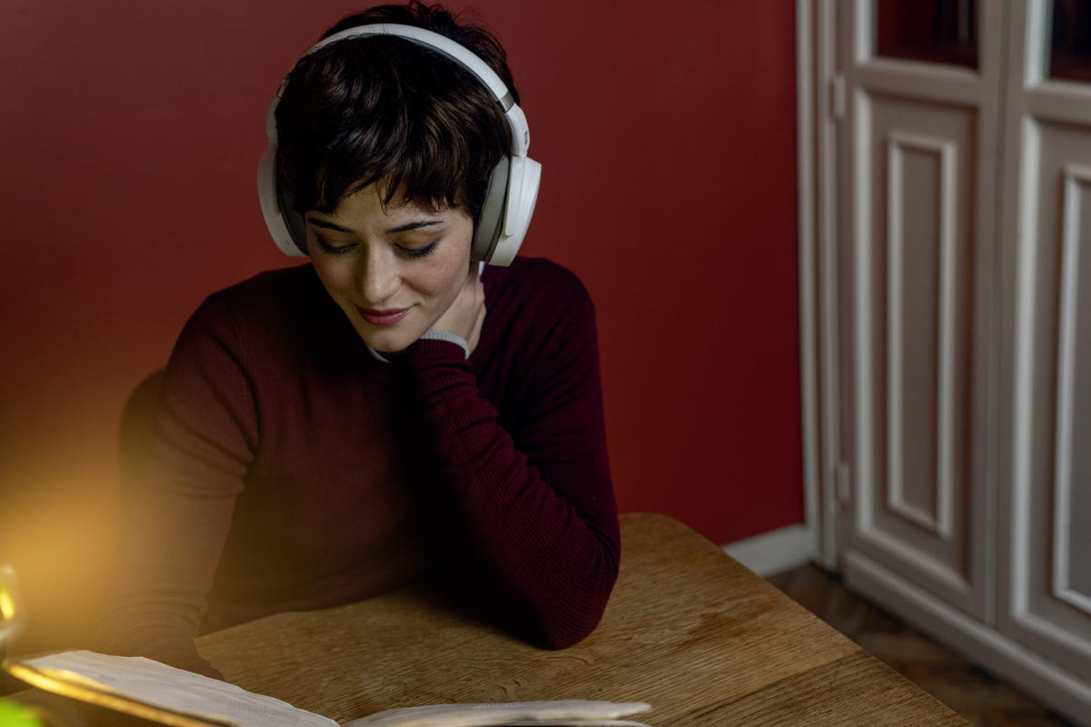 A good pair of noise-cancelling headphones like Sennheiser's new HD 450BT (pictured here) can help you be truly present in the moment.