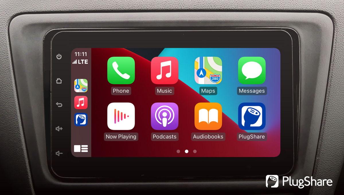 PlugShare icon on the Apple CarPlay app dashboard
