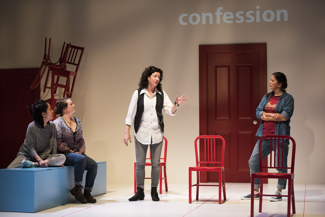 Yumi Ogawa, Jennifer Paterson, Sarah Donald, and Lisa C. Ravensbergen star in Mom's the Word / Photos by Emily Cooper