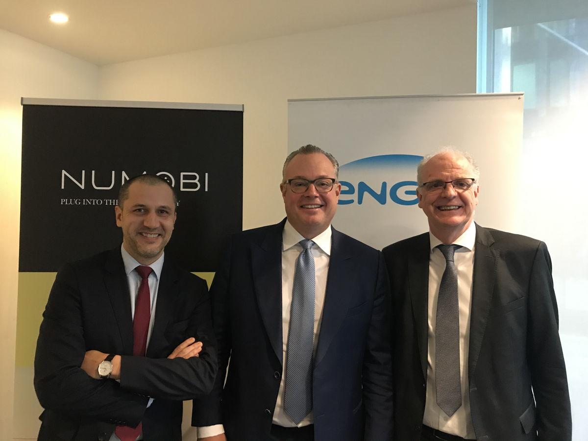 Alain Yvon, Managing Director Arval België - Bart van der Pluym, CEO Numobi - Philippe Van Troeye, CEO ENGIE Benelux.