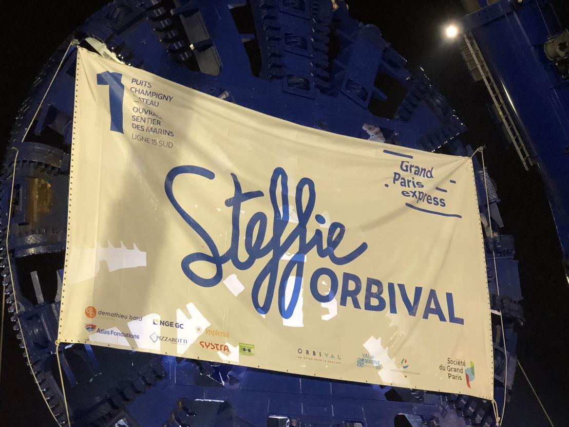 Le tunnelier Steffie Orbival
