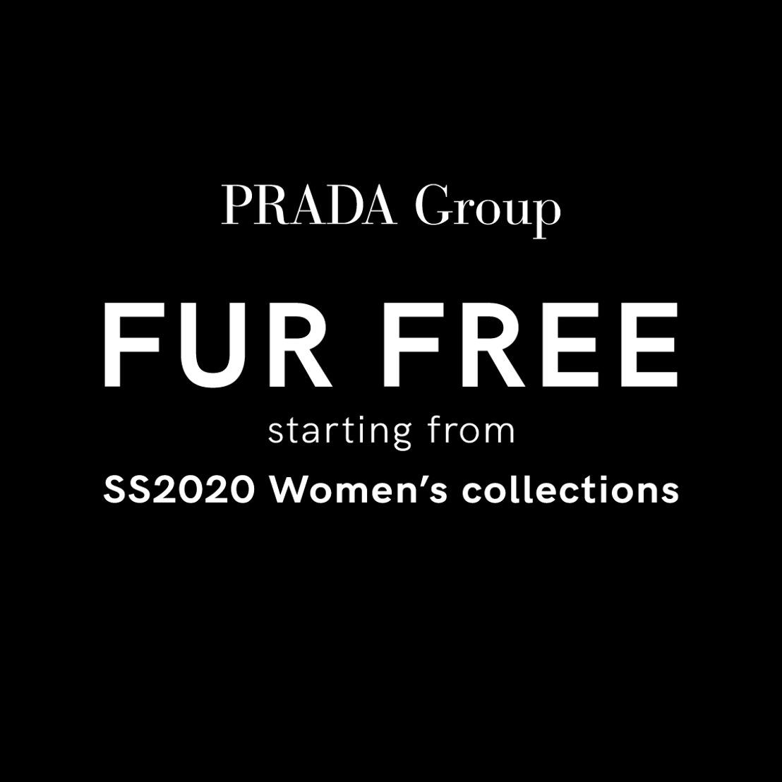 El Grupo Prada anuncia su política libre de pieles y se une al programa internacional de comercio sin pieles