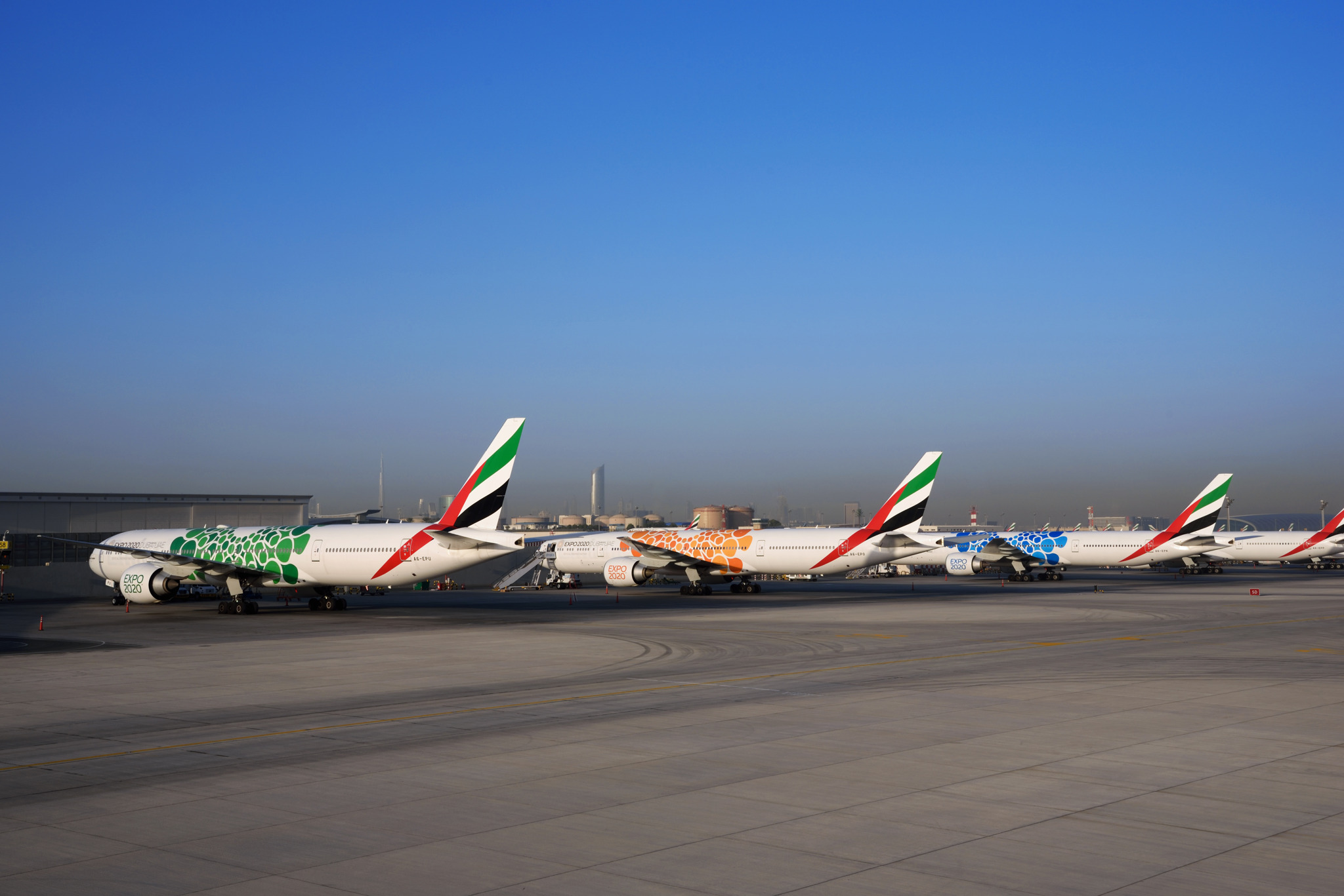 Emirates completes installation of Expo 2020 Dubai livery on