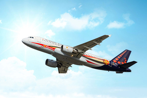 Brussels Airlines official airline of the Belgian Red Devils