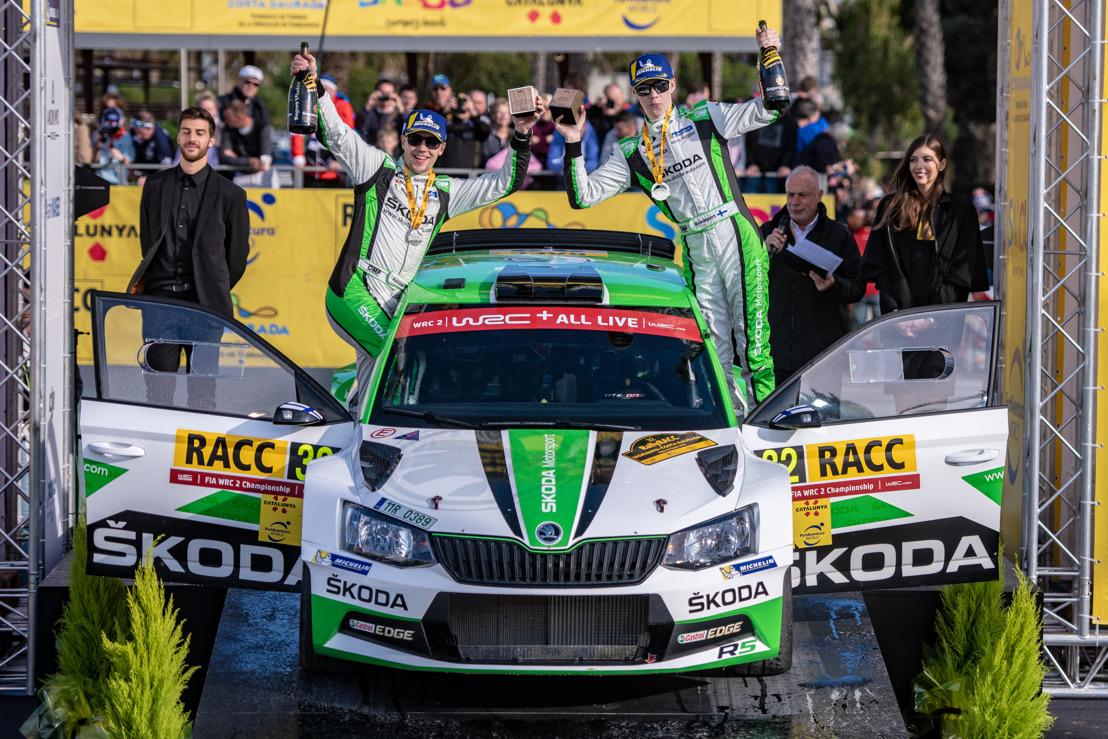 RallyRACC Catalunya: ŠKODA junior Rovanperä wins ahead of new WRC 2 champion Kopecký