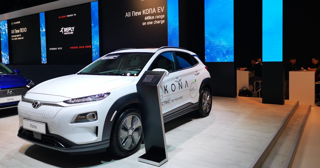 Hyundai ziet doorbraak voor elektrische wagens tijdens het autosalon