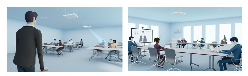 TeamConnect Ceiling 2 with TruVoicelift ensures clear audio, whether in education or conferencing settings