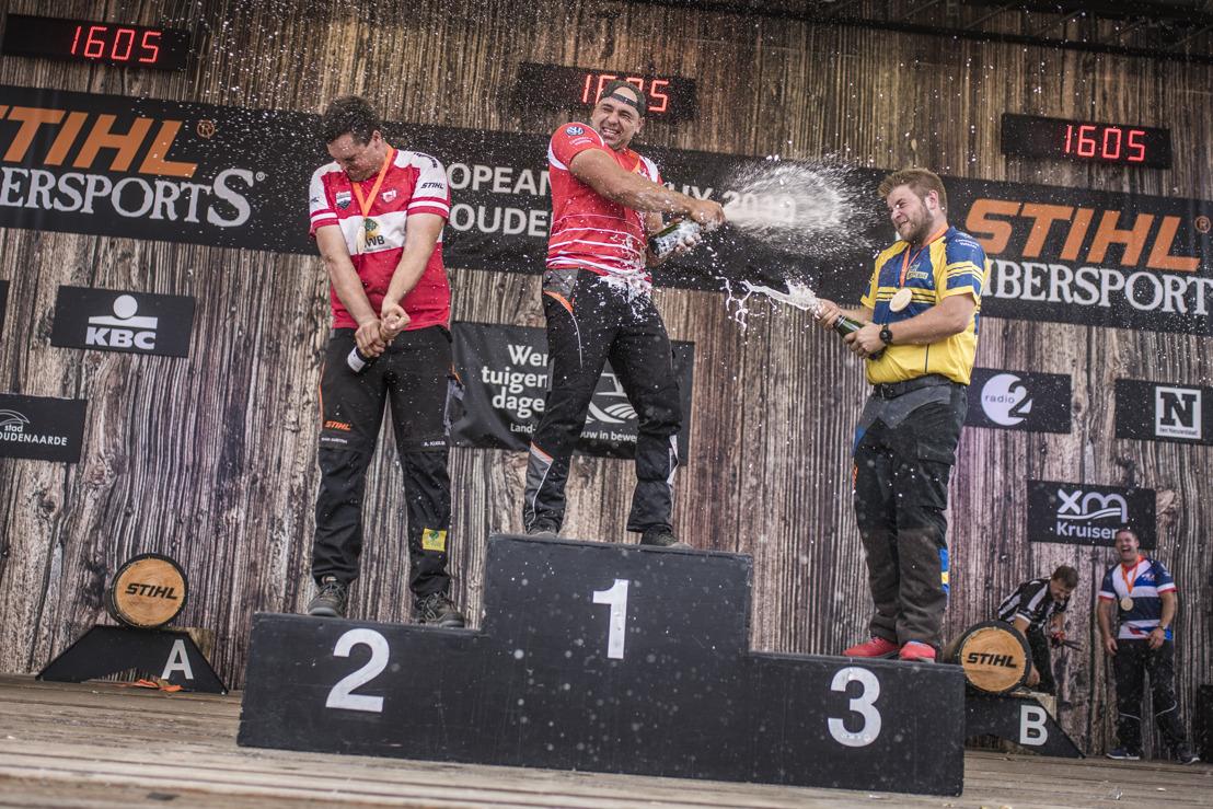 Michal Dubicki wint STIHL TIMBERSPORTS® European Trophy houthakken