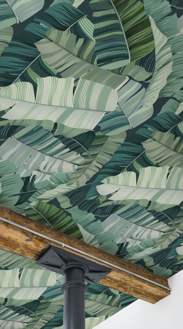 3D Mixed Tropical Camo Leaf Wallpaper