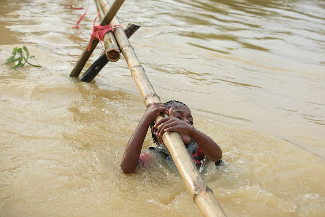 After rainy days all refugee camps are flooded. Photographer: Antonio Faccilongo