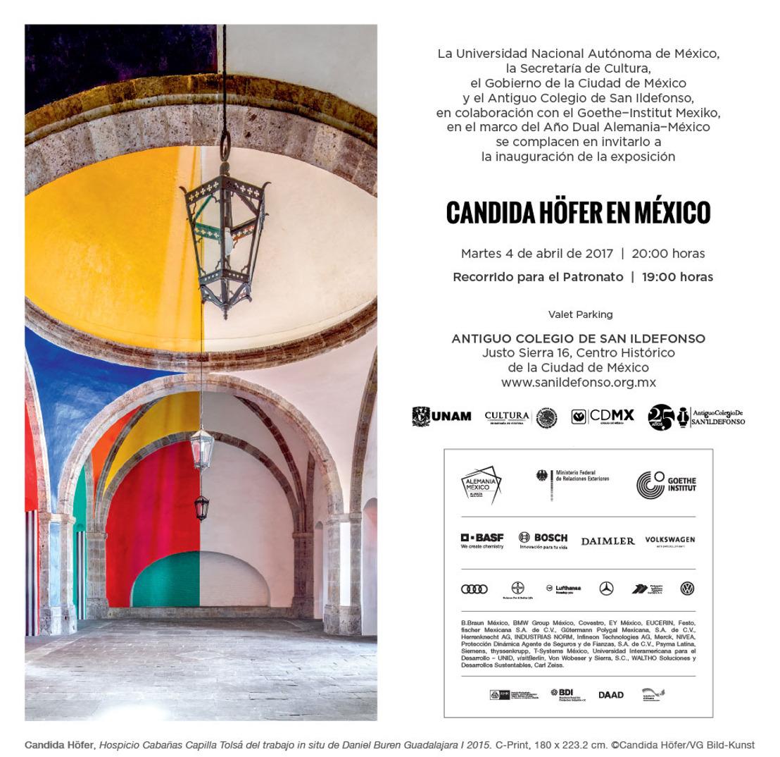 Invitación: Recorrido exposición Candida Höfer en México