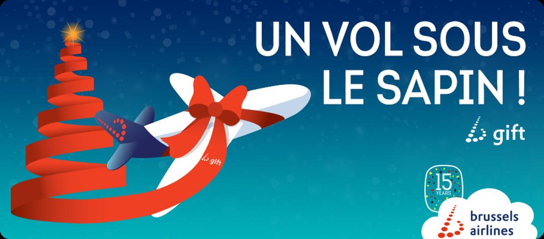 Brussels Airlines dépose des vols sous le sapin de Noël