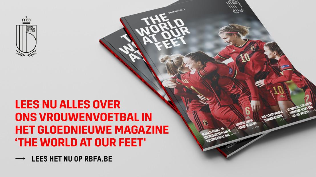 KBVB brengt eigen magazine rond vrouwenvoetbal uit