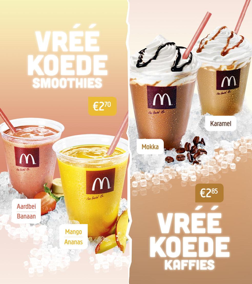 Digitaal menubord Iced Beverages