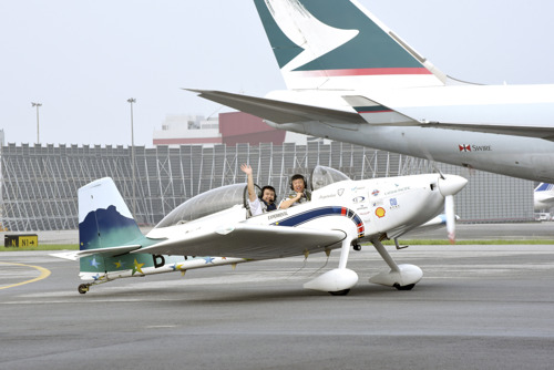 """Inspiration"" to make local aviation history Cathay Pacific Captain Hank Cheng to complete historic round-the-world journey in his homebuilt aircraft this Sunday"