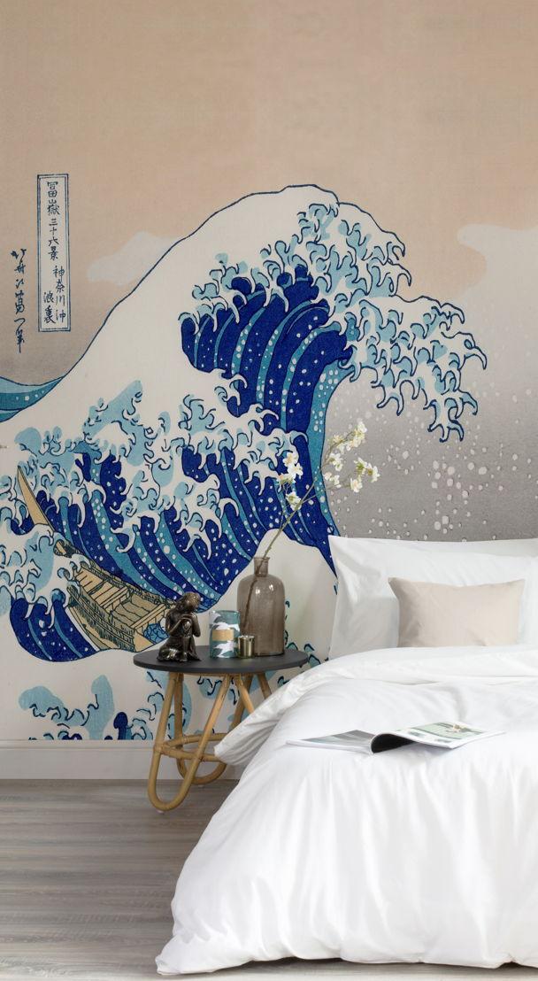 5. Wall Art - The Great Wave by Hokusai - https://www.muralswallpaper.co.uk/shop-murals/great-wave-kanagawa-hokusai-mural/