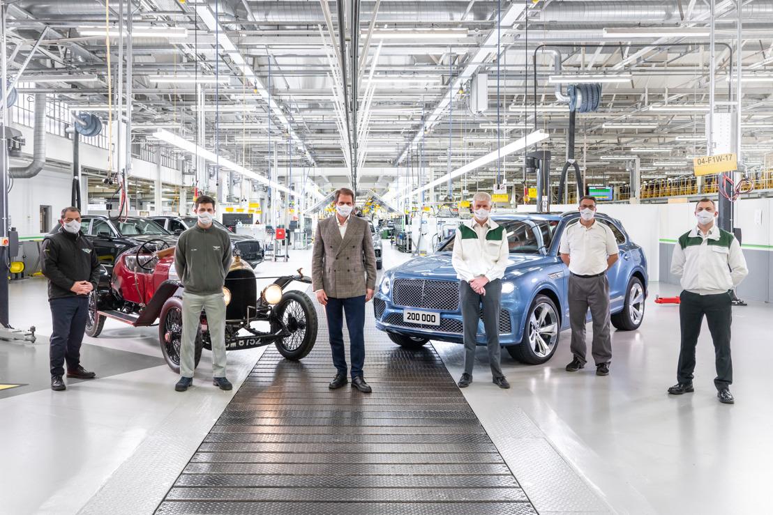 BENTLEY CELEBRATES MANUFACTURING MILESTONE OF 200,000th LUXURY CAR