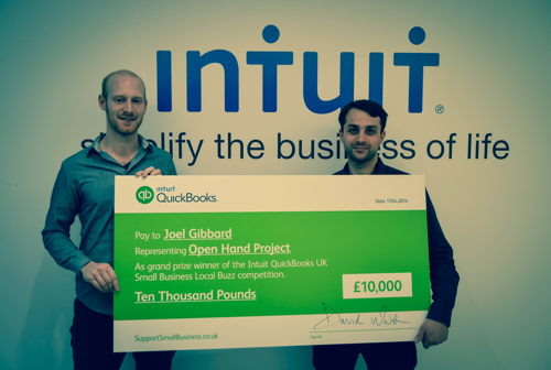 Preview: INTUIT PUTS £10,000 IN THE PALM OF STARTUP THE OPEN HAND PROJECT