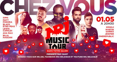 """Le """"NRJ Music Tour dans votre salon"""" a réuni plus de spectateurs en Belgique que la capacité du Stade Roi Baudoin !"""