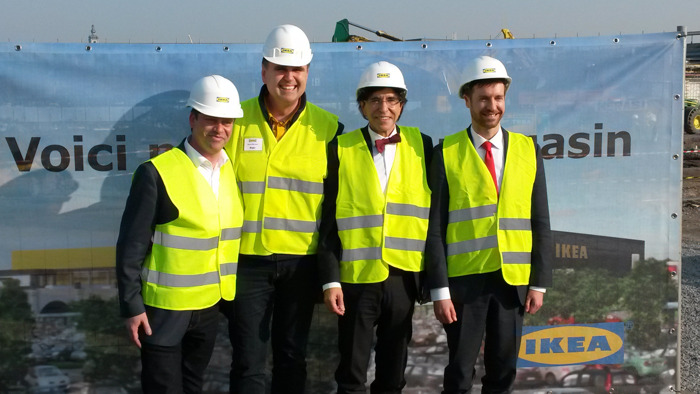 IKEA pose la première pierre de son nouveau magasin à Mons