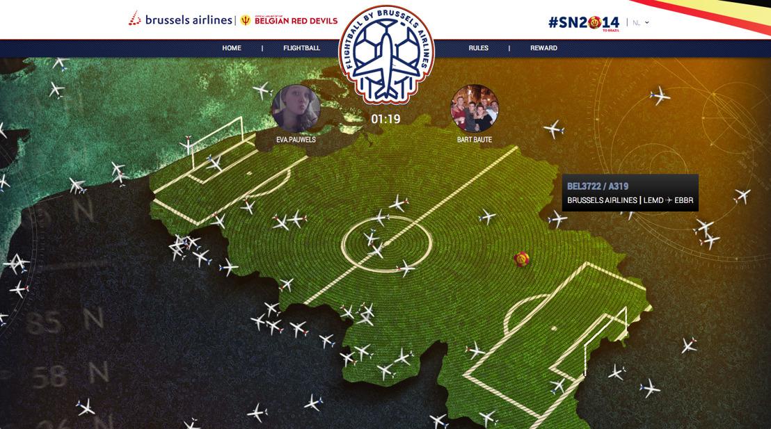 BBDO en Brussels Airlines geven de aftrap van Flightball
