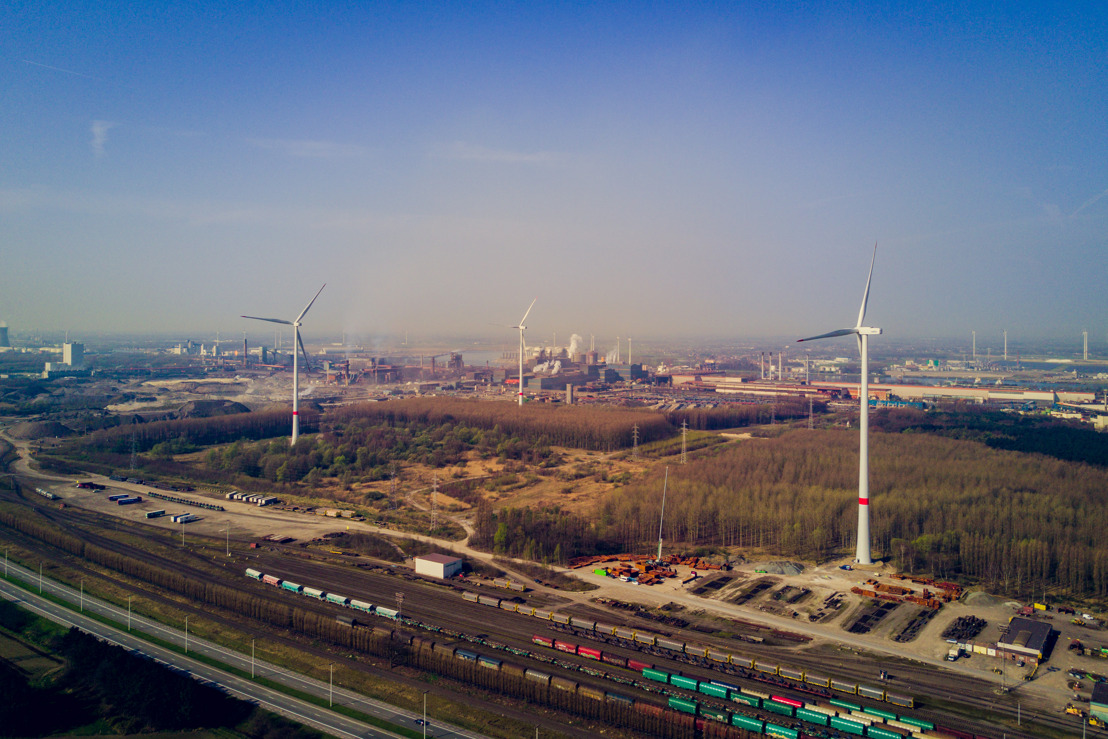 Wind4Flanders, ArcelorMittal en Storm huldigen grootste windpark van Gentse Haven in
