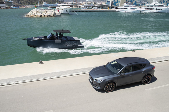 CUPRA takes its high performance DNA to the sea with the De Antonio Yachts D28 Formentor
