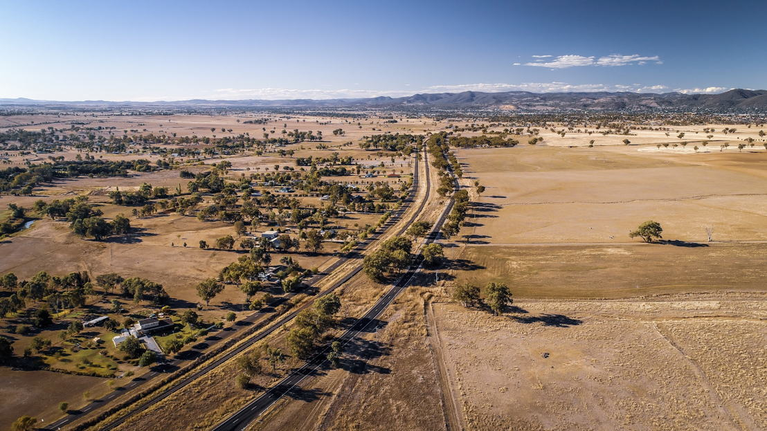 Aerial view of Tamworth