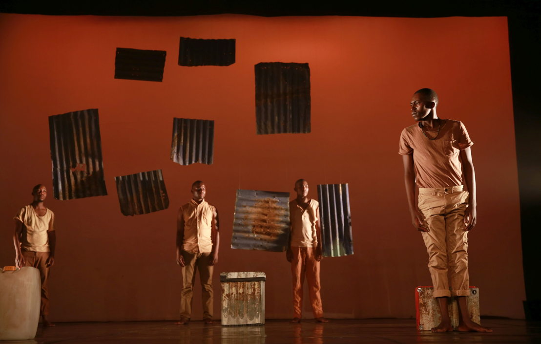 Vuyani Matiwane, Bongani Dyalivana, Eric Menyo & Ntsika Tyalana in Phefumla/To Breathe. Image by Nardus Engelbrecht