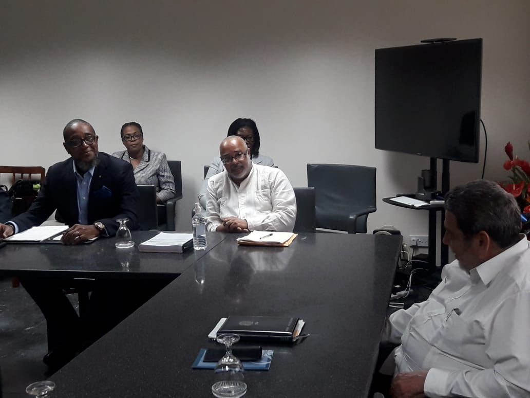 OECS Director General Dr Didacus Jules at the Meeting of the Chairman with Commissioners
