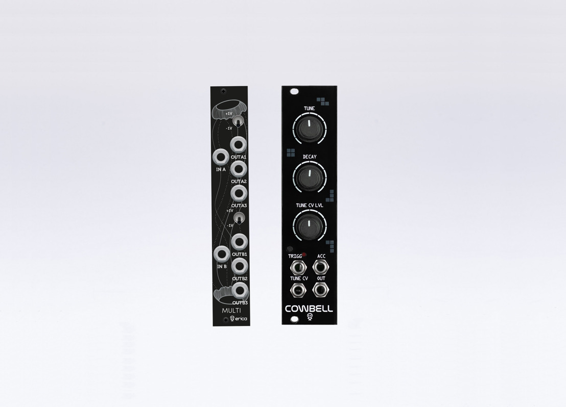 Erica Synths Releases Cowbell and Black Multi Eurorack Modules