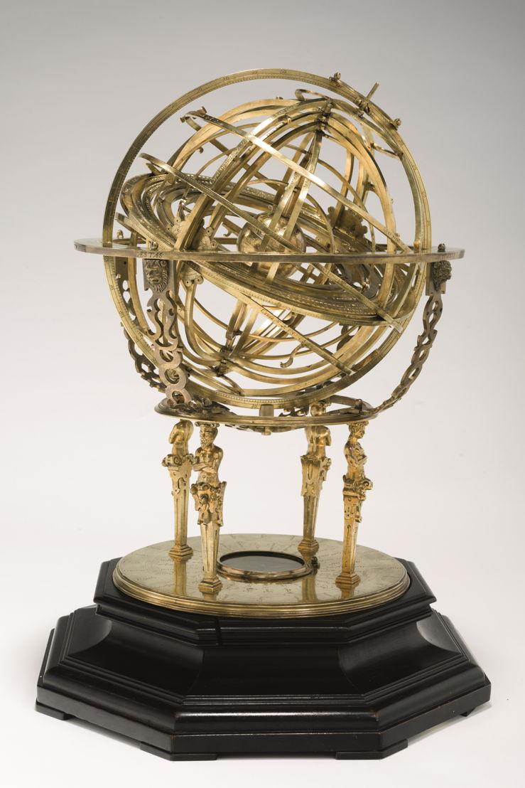 In Search of Utopia © Gualterus Arsenius, Ptolemaic Armillary Sphere, Leuven, 1573. Munich, Bayerisches Nationalmuseum