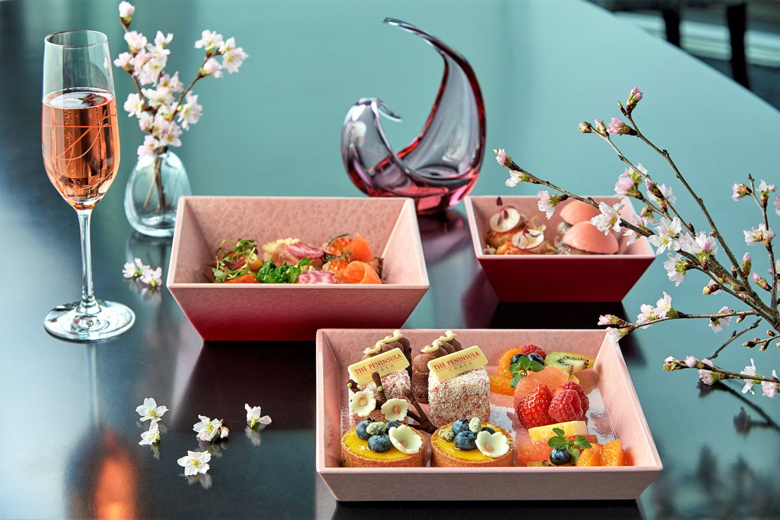 The Peninsula Tokyo: Peter Sakura Afternoon Set with Champagne