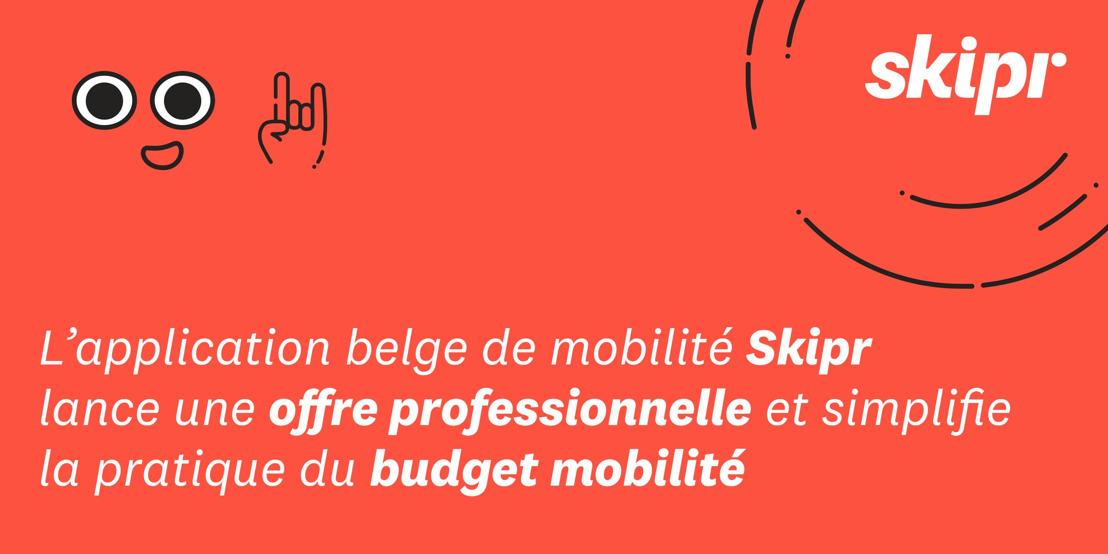 L'application belge de mobilité Skipr lance une offre professionnelle et simplifie la pratique du budget mobilité