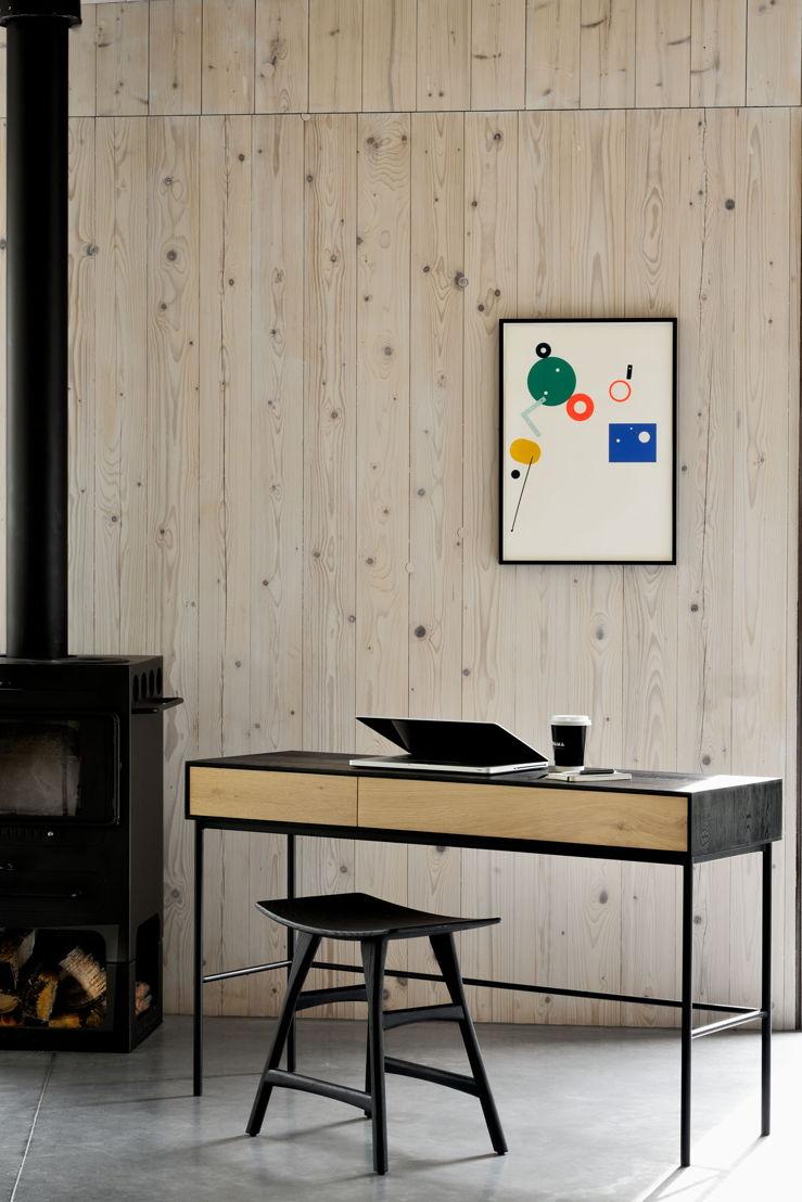 51478 Oak Blackbird desk & 53040 Oak black Osso stool