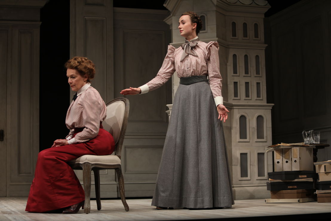 Martha Burns (Nora) and Alice Snaden (Emmy) in A Doll's House, Part 2 by Lucas Hnath / Photos by Tim Matheson<br/><br/>Canadian Premiere<br/>September 16 – October 14, 2018<br/>&lt;a href=&quot;https://www.belfry.bc.ca/a-dolls-house-part-2/&quot; rel=&quot;nofollow&quot;&gt;www.belfry.bc.ca/a-dolls-house-part-2/&lt;/a&gt;<br/><br/>Belfry Theatre, 1291 Gladstone Avenue, Victoria, British Columbia, Canada<br/><br/>Creative Team<br/>Lucas Hnath - Playwright<br/>Michael Shamata - Director<br/>Christina Poddubiuk - Set &amp; Costume Designer<br/>Kevin Fraser - Lighting Designer<br/>Tobin Stokes - Composer &amp; Sound Designer<br/>Jennifer Swan - Stage Manager<br/>Carissa Sams - Assistant Stage Manager<br/>Hilary Britton-Foster - Assistant Lighting Designer