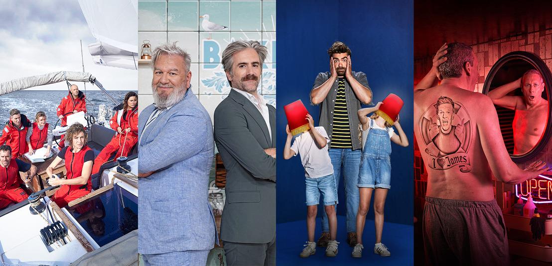 Pedro, Rik, Jelle, Koen en Jeroom dit najaar met nieuwe comedy, nieuwe reality en nieuwe panelshow op VIER, dagelijks Love Island met Viktor op VIJF